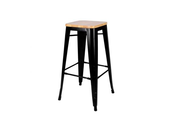 Tolix Kruk met houten zitje